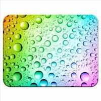 Rainbow Multi Coloured Water Droplets Premium Quality Thick Rubber Mouse Mat Pad