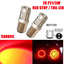 2x 1157 BAY15D RED STOP/TAIL LED 30 SMD BRAKE REAR LIGHT GLB380 P21/5W CANBUS