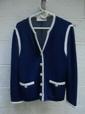 Castleberry Delft Blue Blend Jacket with White Piping - Size 12