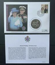 Cook Islands, 2007 Diamond Wedding Anniversary, One Dollar Unc. Coin Cover