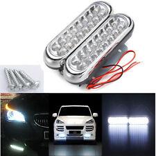 2x 16 LED Car Van DRL Driving Daytime Running DRL Fog White Light Auto Lamps UK