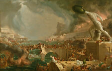 Classical Prints Oil Painting thomas cole the course the destruction of empire