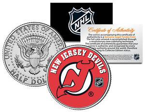 NEW JERSEY DEVILS NHL Hockey JFK Kennedy Half Dollar U.S. Coin * LICENSED *
