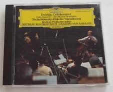 Dvorak: Cello Concerto; Tchaikowsky: Rokoko-Variationen KARAJAN  West German CD!