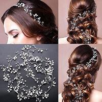 Bridal Hair Headband Pearl Crystal Bridesmaid Wedding Headwear Accessories