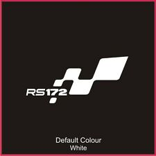 RS172 pare-chocs FLAG DECAL, vinyl, autocollant, graphiques, Renaultsport, Clio, N2048