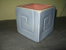 Vintage Red Wing Mid Century Modern Pottery RARE Cubist Greek Key Planter