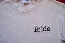 Womens BRIDE T Shirt sz M hiking skiing snowboard cruise honeymoon beach surf