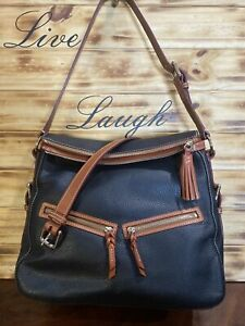 Dooney & Bourke Pebble Leather East West Zip Sac black