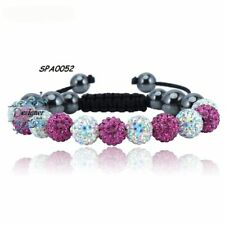 Crystal Sparkle Bracelet Raspberry/White Disco