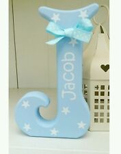 Shabby personalised boys stars wooden letter/name sign freestanding gift