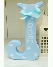 Shabby personalised boys stars wooden letter/name sign freestanding gift