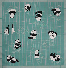 Japanese Cotton Furoshiki Cloth Panda Fabric 'Pandas in a Bamboo Forest' 50cm