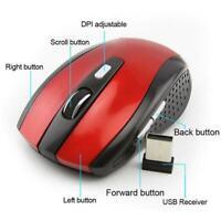 1*2.4GHz Cordless Wireless Optical Mouse Mice Laptop PC Computer+USB Receiver AU
