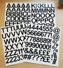 4cm 1.5 inch Self Adhesive Vinyl Sticker Letters and Numbers 40mm  -  25 Colours
