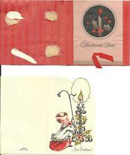 3 Vintage (1937) Christmas Greetings - Signed