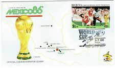 St Vincent Grenadines Bequia FDC 1986 Mexico World Cup USSR v England