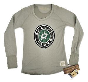 Retro Brand Womens NHL Dallas Stars Hockey Crew Shirt NWT $40 S, M, L
