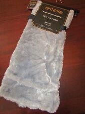 estelle soft faux fur blanket throw 50x60 nwt nwt gray