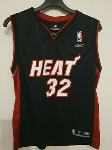 Shaquille O'NEAL #32 MIAMI HEAT jersey shirt REEBOK NBA SIZE Medium