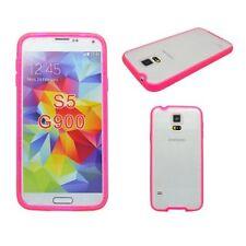 Étuis, housses et coques rose transparent en silicone, caoutchouc, gel pour téléphone mobile et assistant personnel (PDA) Samsung