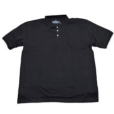 Red Jacket Collar Polo Button Dress Shirt Mens Adult XLarge Black Short Sleeve