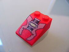 LEGO 3298px6 @@ Slope 33 3 x 2 with Red/Gray Machinery Parts Pattern @@ 7314