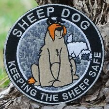 ZOMBIE HUNTER TACTICAL: SHEEP DOG~SWAT~PATCH W/VELCRO~PROTECTING SHEEP!