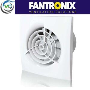 """Wispa Quiet 4"""" 100mm Standard Timer Extractor Fan Bathroom, Kitchen Silent White"""