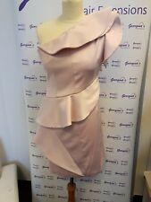 Karen Millen One Shoulder Statement Dress Pink Size 10 BNWT
