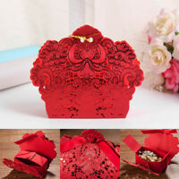 25pcs Hollow Cake Candy Box Wedding Favors Gift Box Packaging Party Supplies