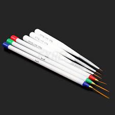 Kit 6 Brochas Pinceles Pintura Dotting Manicura Arte Uñas UV Gel Acrílico