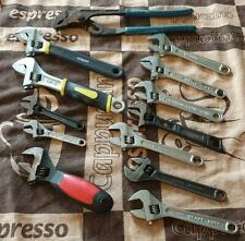 Adjustable wrench job lot of 16 pieces Draper 4S Atorn Fuller Irega etc 19
