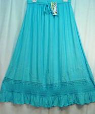 Skirt Renaissance Fair RenFair Old West Pioneer Mormon Trek Turquoise one size