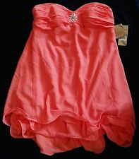 NWT LIGHT in the BOX Juniors/Womens Plus chiffon special occasion dress-Coral 1X