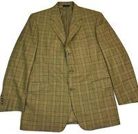 Brooks Brothers 1818 Madison Blazer 42R Mens Sport Coat Plaid Italian Wool Size