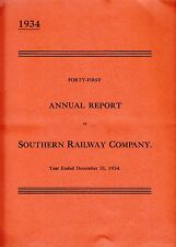 1934         SOUTHERN  RAILWAY           41st. Annual Report