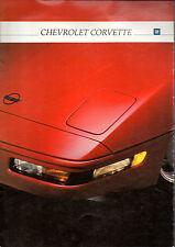 Catalogue brochure CHEVROLET CORVETTE 1992 allemand