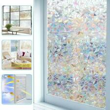 3D Frosted Privacy Window Film Non-adhesive Anti UV Stained Glass Sticker Decor