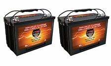 QTY 2 VMAX XTR27 110AH 12V AGM Battery GRP 27 Maint Free 12 Volt Deep Cycle 24V