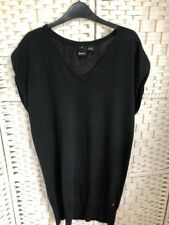 Mens BENCH Black 100% Cotton Sleeveless Tank Top Jumper Size Large 40 42 Chest