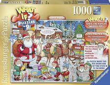Ravensburger Christmas puzzle * 1000 piezas * What If? nº 9 Santa & Rudolph * rareza