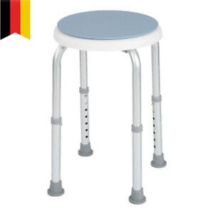 Duschhocker/ Stuhl Rund Höhenverstellbar Duschstuhl Badestuhl Lehne Senioren DHL