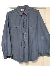 Big Yank jeans Japan Chambray Work Shirt Size 15