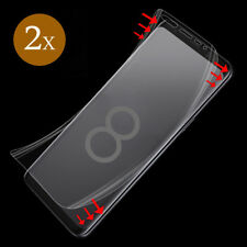 2x Panzer Folie für Samsung Galaxy S8 Display Schutz Folie 3D Full Cover KLAR