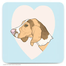 Coaster Drinks Mat Cute Beagle Dog Lovers Novelty Cheap Present Birthday Gift