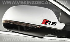 AUDI RS Premium Mirror Decals Stickers TTRS RS1 RS3 RS4 RS5 RS6 RS7 RS8 Quattro