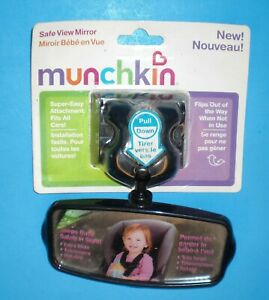 Munchkin Safe View Mirror Rearview Flip-out Adjustable See Baby Car Seat or Pets
