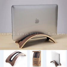 Solid Wooden Vertical Stand Desk Holder Base Display Rack For Macbook Air Laptop