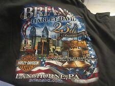 HARLEY Davidson TEE  25TH ANNIVERSARY Brians Langhorne, PA